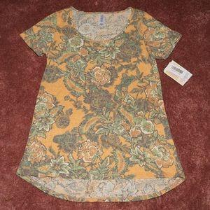LuLaRoe Classic T XXS orange and green floral